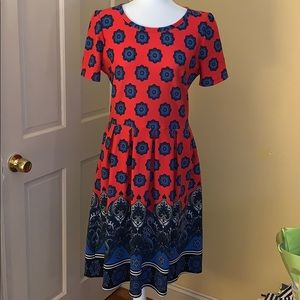 Worn once Dipped Lularoe Amelia Dress